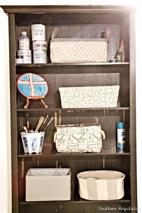 black bookcase with baskets my laundry room makeover finale southern hospitality
