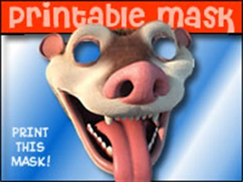 printable possum mask free kids games coloring online jigsaw puzzles other
