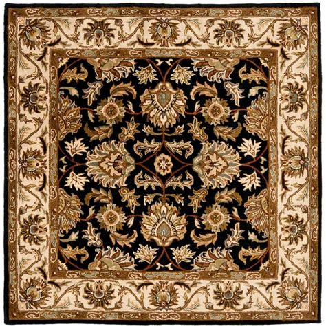 4 square rug safavieh heritage black beige 4 ft x 4 ft square area rug hg628b 4sq the home depot