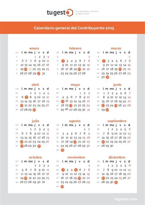 Calendario Fiscal 2015 Calendario Contribuyente 2015