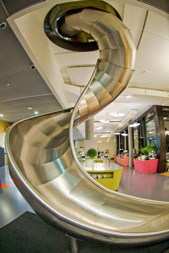 google z rich office slide to the canteen youtube google zurich office the slide the canteen is right