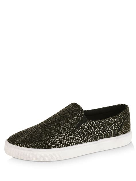 buy no doubt textured shimmery slip on trainers for