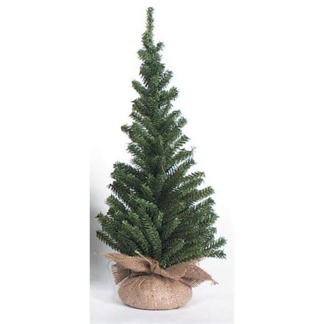24 quot mini canadian pine christmas tree 148 tips w burlap