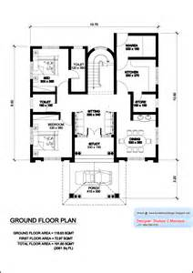kerala model villa plan with elevation 2061 sq feet
