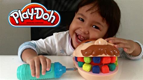 play doh doctor drill n fill dentist play set mainan lilin dokter gigi