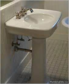 How To Plumb A Sink by Installing A Pedestal Sink Plumbing Help