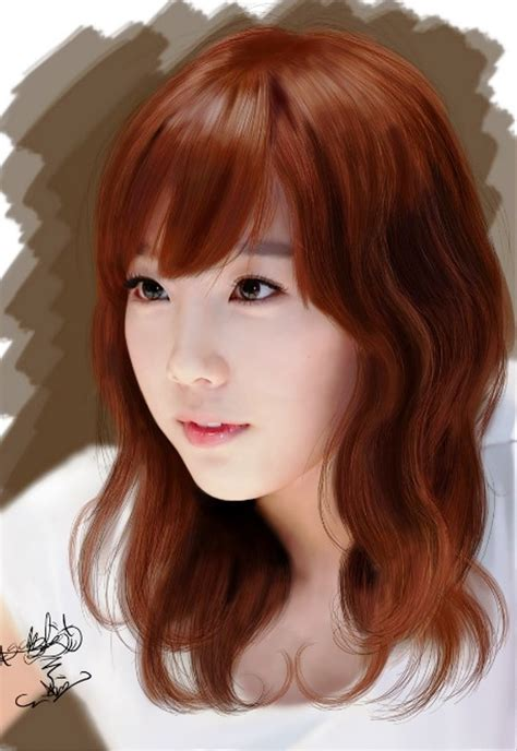 kawaii hairstyles bangs pictures of cute asian girl red hairstyle with bangs