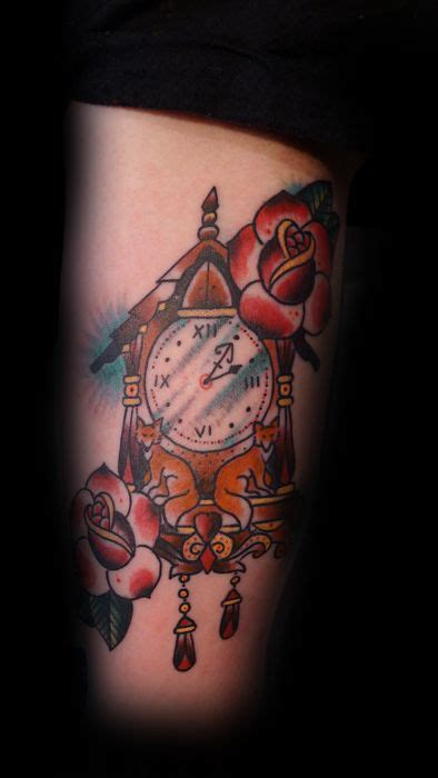 rose and clock tattoo meaning 25 best ideas about cuckoo clock on
