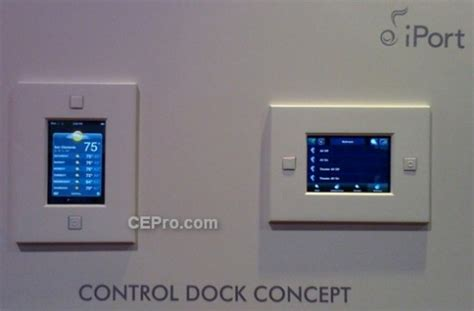 this in wall ipod dock doubles as a home automation controller