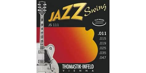 thomastik jazz swing thomastik infeld js111 light flatwound jazz swing electric