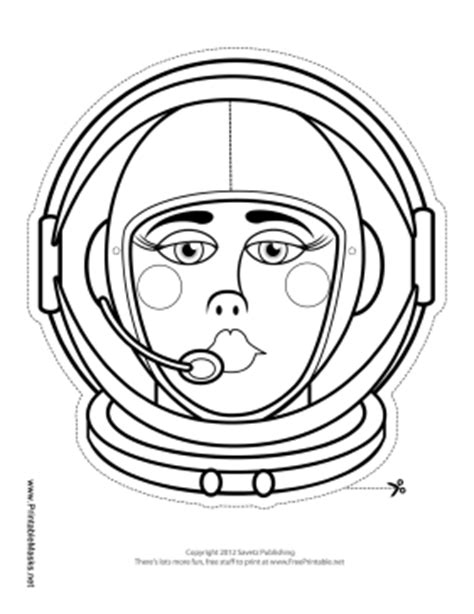 printable astronaut mask astronaut cut out mask page 2 pics about space