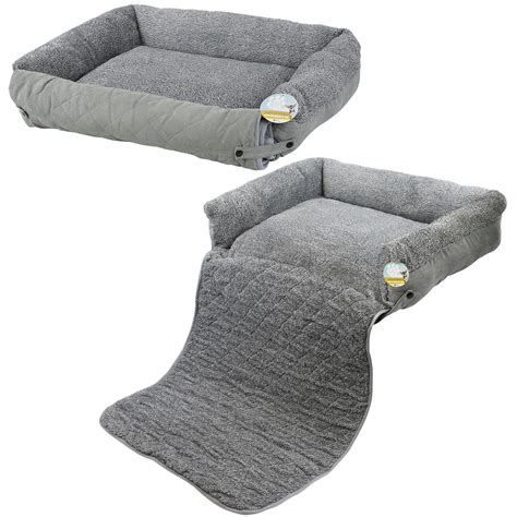 Cat Sofa Bed Me My Pet Quilted Grey Fleece Fold Out Cat Bed Sofa Chair Protector