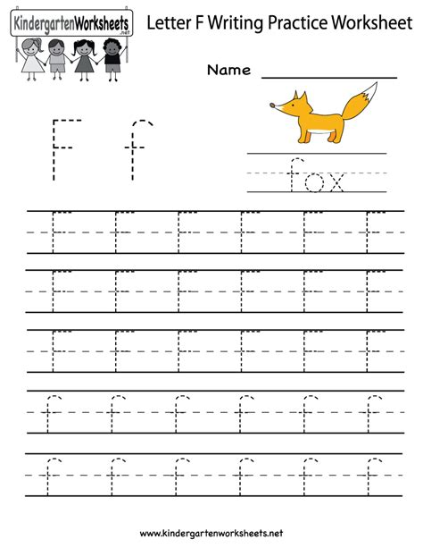 printable tracing letter f kindergarten letter f writing practice worksheet printable