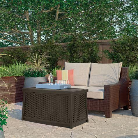 suncast wicker coffee table  storage lawn garden