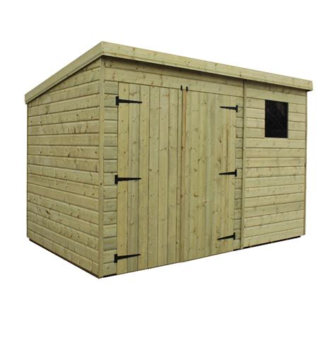 Garden Shed Windows And Doors by Ante 10 X 8 Pent Shed Plans 4x10