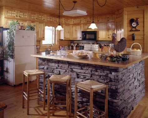 stone island kitchen pictures of stone accents used in log homes fun times