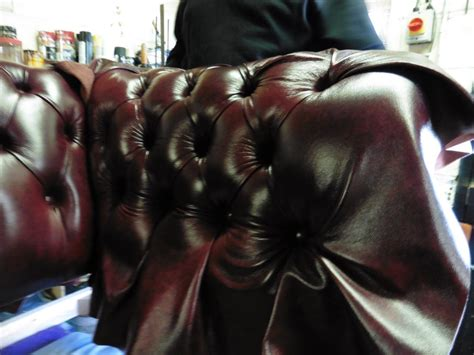 Recover Leather by Recover Of Leather Chesterfield Sofa Hill Upholstery