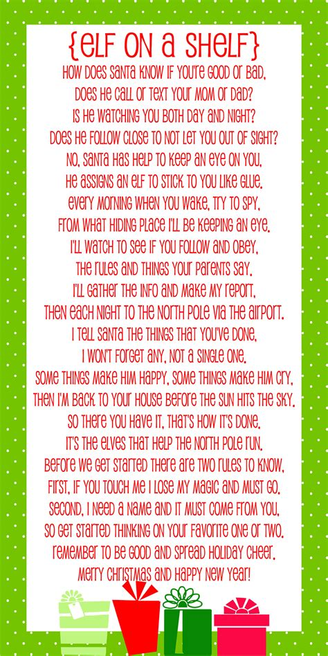 printable elf on the shelf introduction letter from santa elf on the shelf story free printable poem lil luna