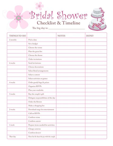best 25 bridal shower checklist ideas on