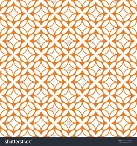 orange pattern vector seamless pattern geometric shapes simple design stock