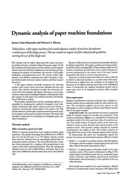 Mesin Es fondasi untuk mesin pembuat kertas