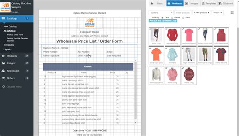 wholesale order form template product order forms gt easily create order forms catalogs