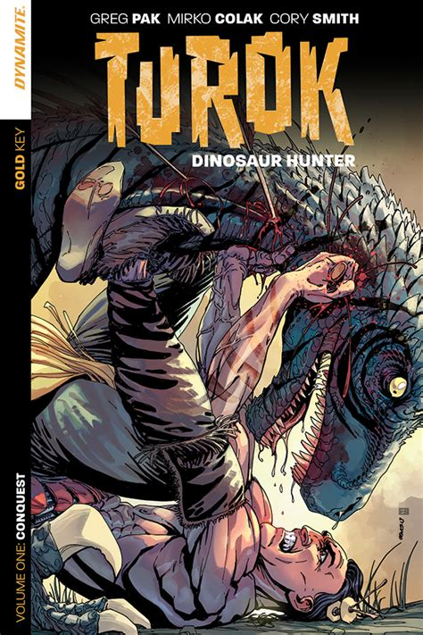 dino hunters discovery in the desert volume 1 books dynamite 174 turok dinosaur vol 1 conquest tpb
