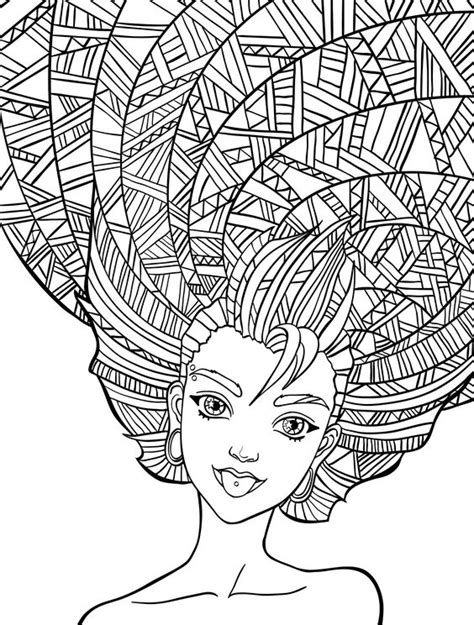 hair dreams coloring book for adults books 10 hair coloring pages page 9 of 12