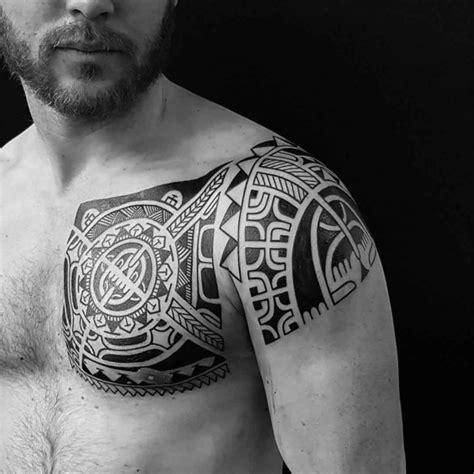 polynesian tribal chest tattoo best tattoo ideas designs polynesian chest tattoo to shoulder best tattoo ideas