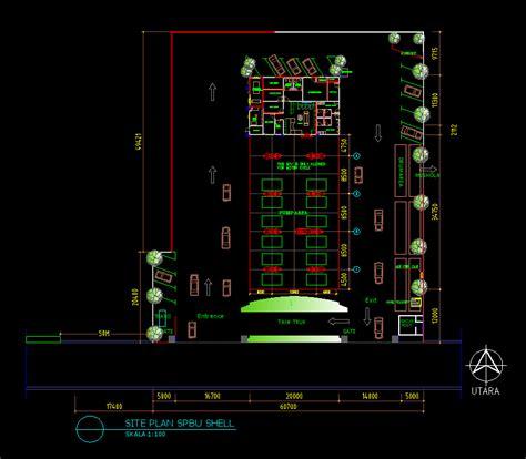 gambar desain lu led download gambar autocad desain site plan spbu dwg