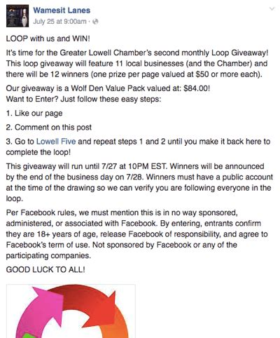 Giveaway Exles - how to easily create a facebook loop giveaway social media examiner