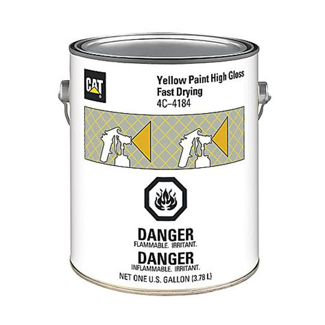 yellow paint high gloss fast drying cat parts store