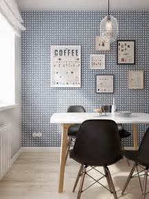 blue scandinavian wallpaper interior design ideas collection 3