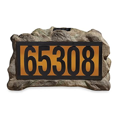 solar house numbers buy solar rock house marker from bed bath beyond