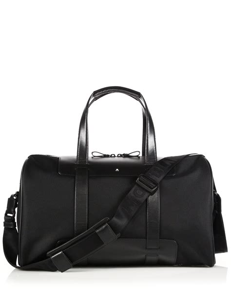 Handbag Montblanc A12 Black montblanc cabin leather trimmed duffle bag in black for