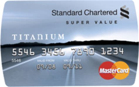 standard chartered bank card review of the standard chartered value titanium