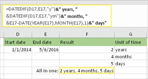 Calendar Between Dates Calculate The Difference Between Two Dates Excel