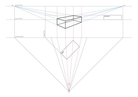 Drawing 2 Point Perspective From Plan by Alltheworstideas Construction Of A Rectangular Prism From