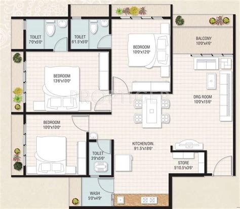 1500 sq ft floor plans 3bhk floor plan in 1500 sq ft