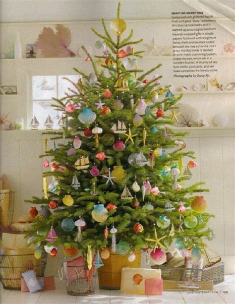 theme tree beach themed tree christmas pinterest