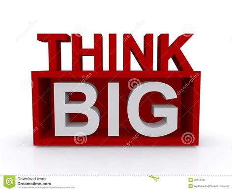 bid stock think big stock image image 38113431