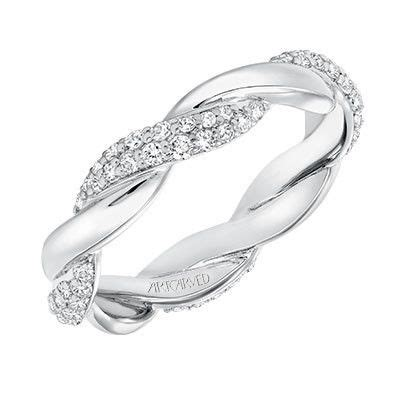 Wedding Bands Ri by Artcarved 14k White Gold Twist Wedding Band Or