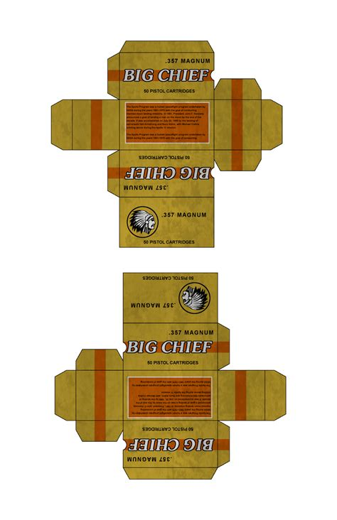 Fallout Papercraft - big chief 357 ammo from fallout new vegas by emptysamurai