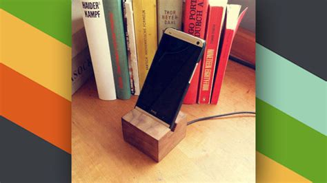 diy charging dock this diy wooden phone charging dock looks great on your desk
