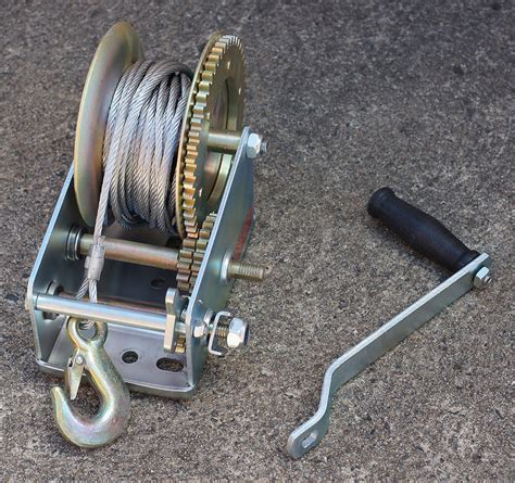 boat trailer winch cable hand winch steel cable 2500 lbs boat trailer gear winch