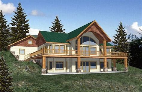 house plans daylight basement home on hill w daylight basement building the dream