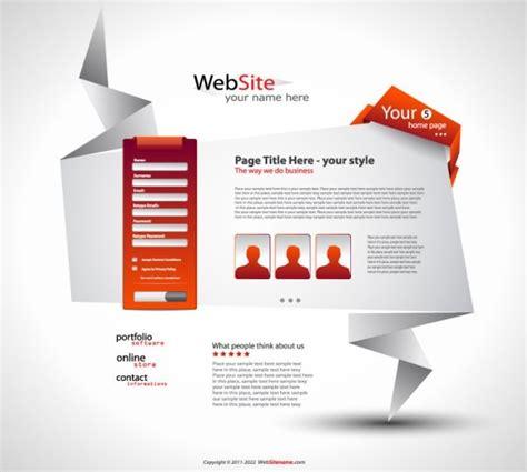 origami websites origami website design 05 vector free vector in