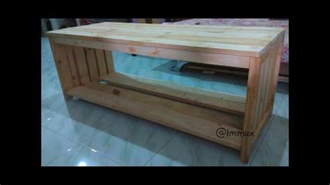 Meja Tv Dari Kayu gambar cara buat meja tv sendiri dan membuat rak meja tv