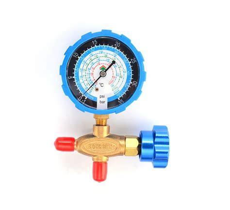 Single Manifold Ct 466 R 22 hs 466nal low side 1 way manifold for r134a r410a r22 r404a with ce in pressure gauges