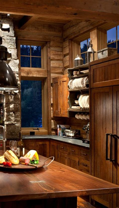rustic cabin kitchen cabinets rustic kitchen with cabinets made from reclaimed oak